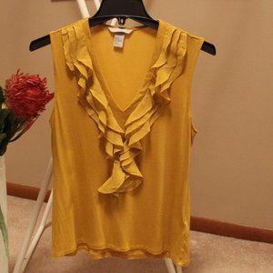 H&M Golden Yellow Sleeveless Top
